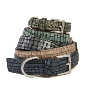 Braided Leather Collars in Various Colours
